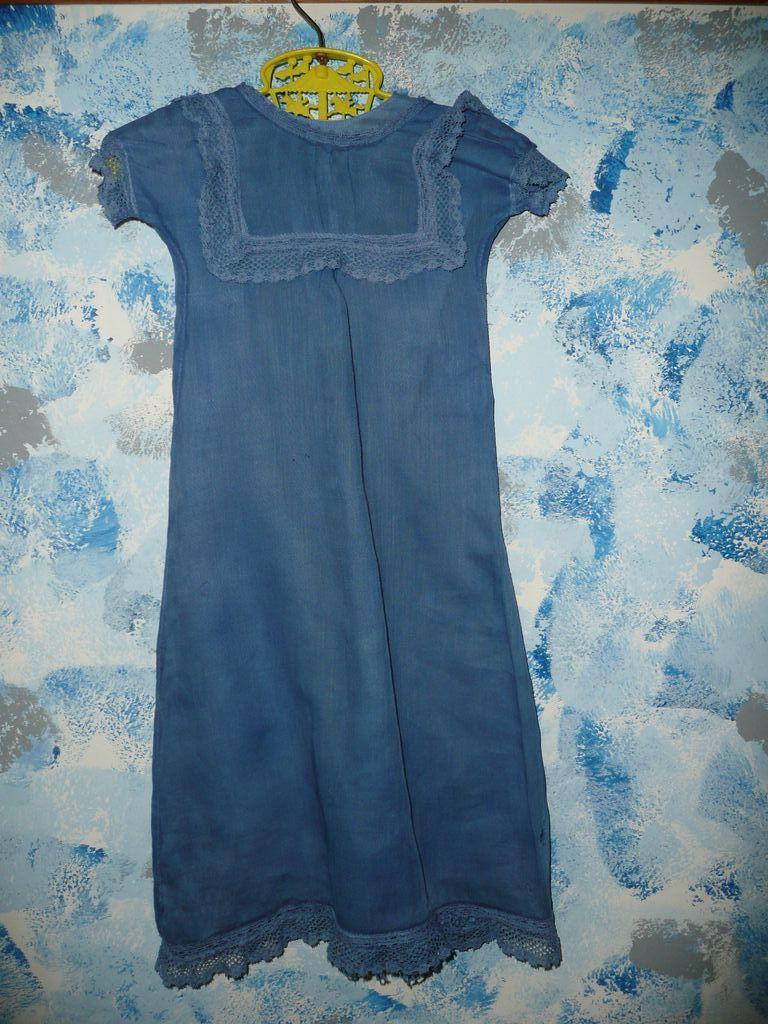 Beautiful Blues Long Baby Dress with Slip