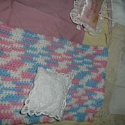 Lot of  Vintage  Doll's Bed Linen