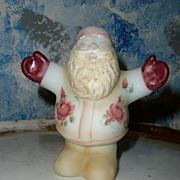 Unique FENTON Hand-Painted and Signed Hugging Santa Claus