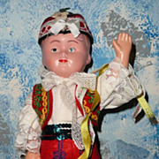 """12"""" Old  Polish Boy dressed  with Folklore Costume"""