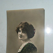 SOLD Beautiful English Hand-Painted Post Marked Post Card *1915