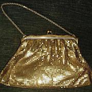 Vintage Deco Whiting & Davis Gold Mesh Purse