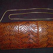 Vintage Spanish Snake Skin Purse