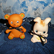 Two Vintage Squeak Rubber Toys