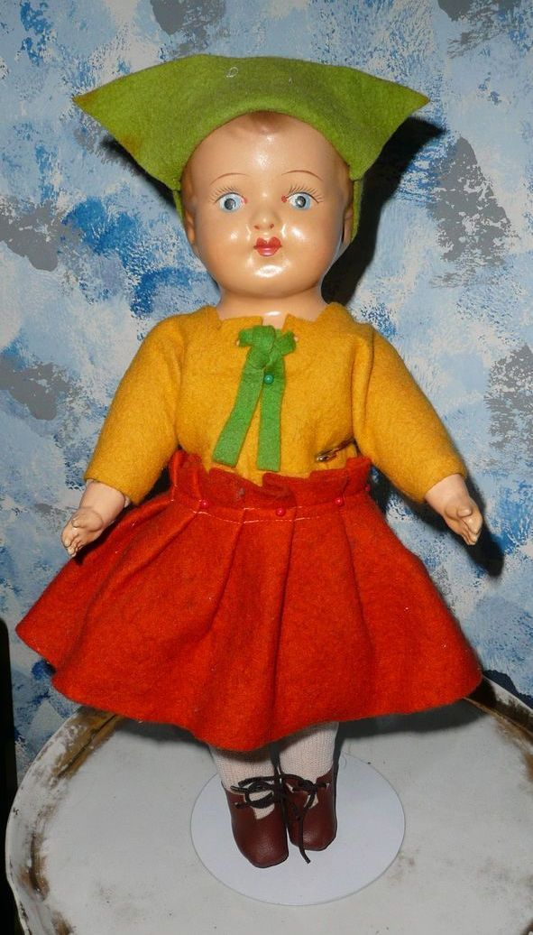 "14""  Dutch Girl Doll 1916 Averill"