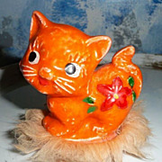 Cute Napcoware Imports Orange Cat with Fur