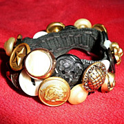Authentic and Original 1950's Button Bracelet