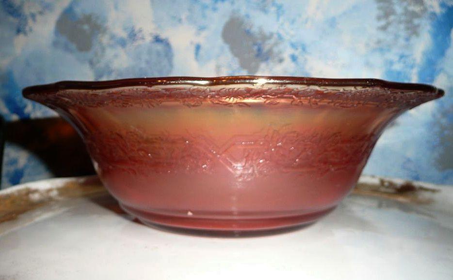 Normandie Bouquet and Lattice Seep Salad Bowl 1933-1940