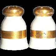 Nippon White China Porcelain Individual Shakers