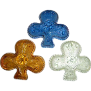 Vintage Shamrock Shaped Glass Dishes