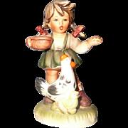 Vintage Made in Japan Figurine of Little Girl Feeding Hen