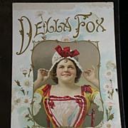 Victorian Scrap of Della Fox, American Comedienne/Singer c.1890's