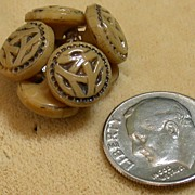 Vintage Celtic Knot Motif Buttons, Group of 7