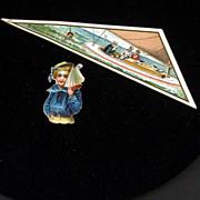Nautical Themed Victorian Ephemera, Sailor Boy & Advertising Piece
