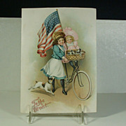 "Antique Patriotic Ephemera ""To The Front"" C. 1880-1910"