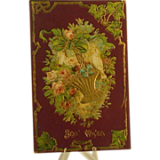 """Antique Embossed Postcard """"Best Wishes"""", Circa 1900-13"""