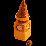 """Figural """"Big Ben"""" Porcelain Box With Bobby's Hat Trinket"""