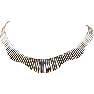 Sterling/Vermeil Italian 16-inch Necklace, Elegant!