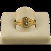 Art Deco Period 14K Gold & Diamond Ring, Estate, Size 8.25