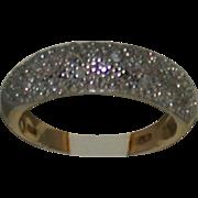 14K/Diamond Pave Domed Lady's Ring, Estate, Size 6.5