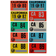 SALE Old California Stickers 1980 to 1989