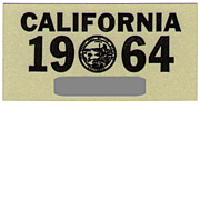 SALE Old California Sticker 1964