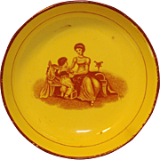 Antique Early 19th century Pearlware Bowl Featuring a Classical Scene Adam Buck 1810