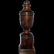 Fine Antique 19th c. English Georgian Yew Wood Urn Lamp