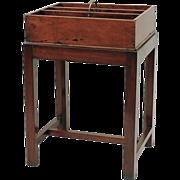 Antique 19th c. English Mahogany Tray on Stand