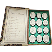 Antique 19th c. Grand Tour Intaglios or Tassies Mounted in a Book