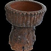Fine Antique 19th century English Stone Pottery Tree Trunk Form Planter