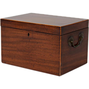 Large Antique Early 19th century Georgian Mahogany Tea Caddy Converted to a Humidor Chest 1810