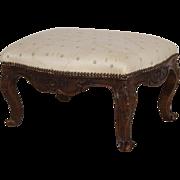 Antique 18th century French Louis XVI Fruitwood Tabouret Stool