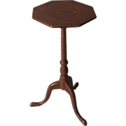 Antique late 18th century American Federal Paint Decorated Octagonal Side Table Candlestand Coastal Maine