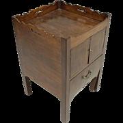 Antique 18th century George III English Mahogany Bedside Table Cupboard 1790 - 1800