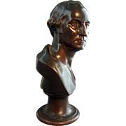 Rare 19th c. Bronze Bust President George Washington