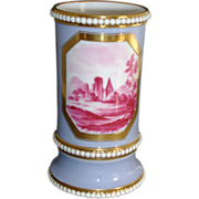 Early 19th c. Spode Spill Vase with Sepia Toile Landscape c. 1815