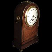 Good Edwardian Mahogany Mantle Carriage Clock in the Regency Taste