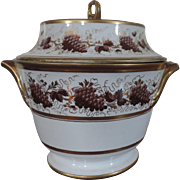 Antique Early 19th century English Worcester Porcelain Fruit Cooler in the Grapevine Pattern 1