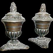 Pair of Early 19th c. Regency Bronze Urn Form Pastille or Incense Burners c. 1815