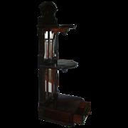 19th c. Rosewood Hall Shelf Vitrine with Mirror - Wall Bracket