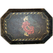 Fine Antique 19th c. American Federal Paint Decorated Tole Tray 1820
