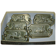 Early 19th century Regency Egyptian Revival Sphinx Bail Handle Brasses or Drawer Pull Hardware
