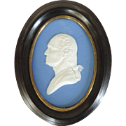 19th c. Wedgwood Jasperware Portrait Bust Plaque of President George Washington