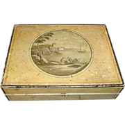 Fine Regency Paint Decorated Jewel or Sewing Box 1820