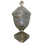 18th c. Georgian Anglo Irish Glass Urn & Cover in the Adam Taste - Lead Crystal 1790