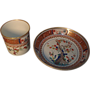 Early 19th century Spode Imari or Japan Porcelain Coffee Can and Saucer in the Kakiemon Pattern 282 - 1805