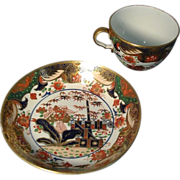 19th century Spode 967 Imari Porcelain Bute Shaped Cup and Saucer - 1810