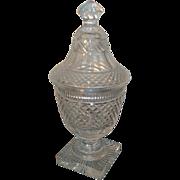 19th century Regency Anglo Irish Cut Glass Urn