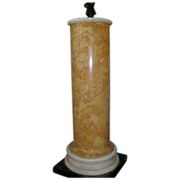 19th c. Italian Scagliola Sienna Marble Column for Regency Bust or Bronze Statue